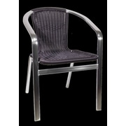 H&D Restaurant Supply, Inc. Patio Aluminum Arm Chair; Brown
