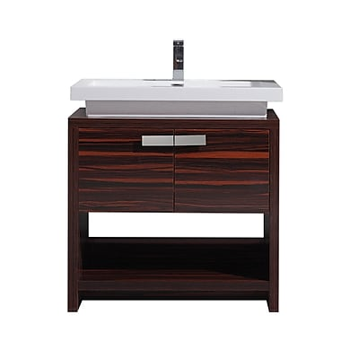 Orren Ellis Gaynelle 32'' Single Bathroom Vanity Set; Rose Walnut
