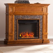Alcott Hill Valholl Simulated Stone Media Center Electric Fireplace