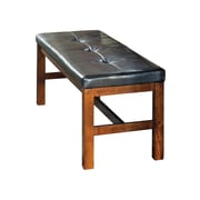 Loon Peak Burgess Traditional Upholstered Dining Bench