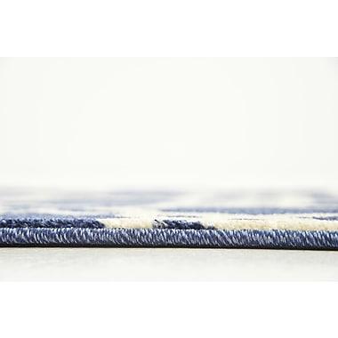 Winston Porter Molly Blue/Beige Area Rug; Runner 3' x 8'