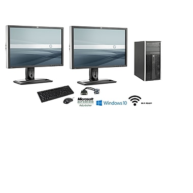 Refurbished HP PRO 6300 Bundle Desktop (Includes [2] 24