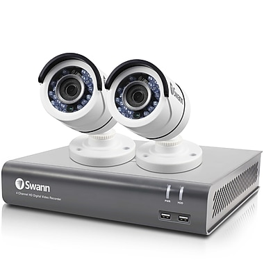 Swann – Système de surveillance DVR à 4 canaux 1080p 1 To, 2 caméras T853 type canon (SWDVK-44575T2)