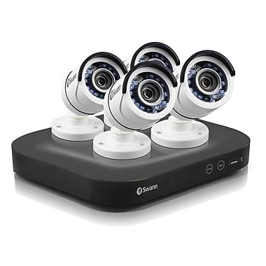 Swann – Système de surveillance DVR à 8 canaux 5MP 2 To, avec 4 caméras type canon de la gamme Pro (SWDVK-8HD5MP4)