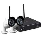 Swann 4-Channel 1080p Wi-Fi NVR Security System, 2 1080p Cams (SWNVK-485KH2)