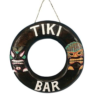 Bay Isle Home Tiki Bar Ring Wood Wall D cor