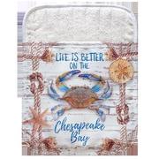 Live Free Chesapeake Crab Net Pocket Mitt Potholder (Set of 2)