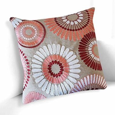 A1 Home Collections LLC Talia Cotton Throw Pillow; Pink/Beige