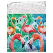Live Free Flamingos Pocket Mitt Potholder (Set of 2)
