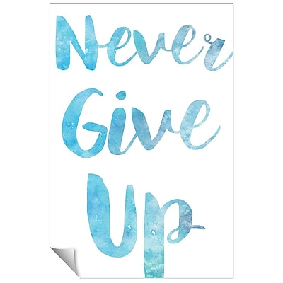 Successories Never Give Up Watercolor Series Wall Decal; 48'' H x 32'' W