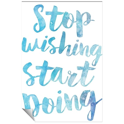 Successories Stop Wishing Start Doing Watercolor Series Wall Decal; 48'' H x 32'' W