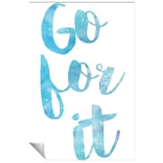 Successories Go For It Watercolor Series Wall Decal; 48'' H x 32'' W