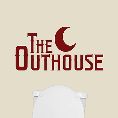 SweetumsWallDecals The Outhouse Wall Decal; Cranberry