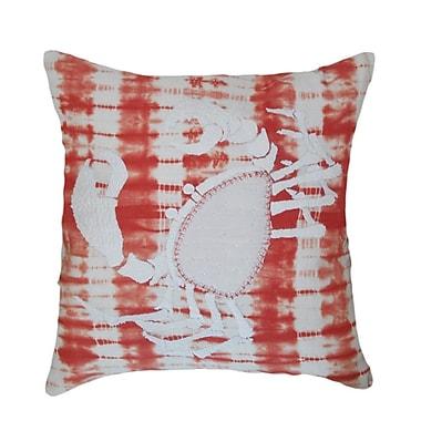 A1 Home Collections LLC Marnia Scorpion 100pct Cotton Throw Pillow; Orange/White