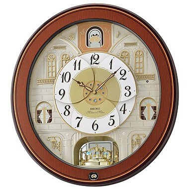 Darby Home Co Round Musical Wall Clock