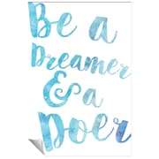 Successories Be A Dreamer Watercolor Series Wall Decal; 48'' H x 32'' W