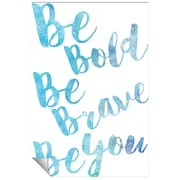 Successories Be Bold Watercolor Series Wall Decal; 36'' H x 24'' W