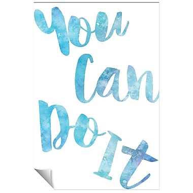 Successories You Can Do It Watercolor Series Wall Decal; 36'' H x 24'' W