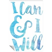 Successories I Can and I Will Watercolor Series Wall Decal; 36'' H x 24'' W