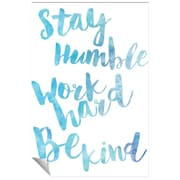Successories Stay Humble Watercolor Series Wall Decal; 36'' H x 24'' W
