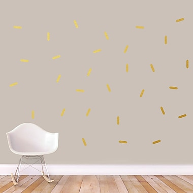 SweetumsWallDecals Sprinkles Wall Decal; Gold