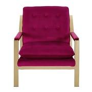 Mercer41  Heanor Armchair; Cranberry