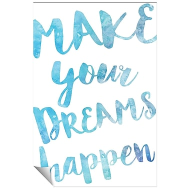 Successories Your Dreams Watercolor Series Wall Decal; 36'' H x 24'' W