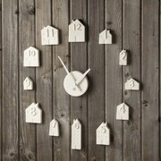 Brayden Studio Porcelain Bisque House Wall Clock