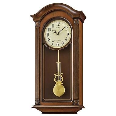 Astoria Grand Pendulum and Chime Rectangular Wood Wall Clock