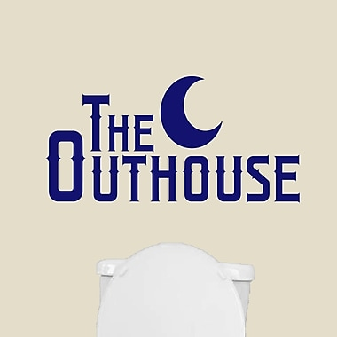 SweetumsWallDecals The Outhouse Wall Decal; Navy