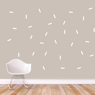 SweetumsWallDecals Sprinkles Wall Decal; White
