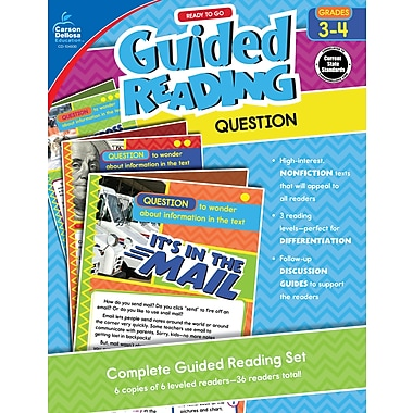 Carson-Dellosa Publishing Ready to Go Guided Reading: Question, Grades 3 - 4 [eBook]