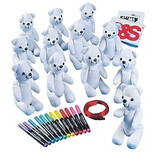 Geeperz™ Beautiful Bears Craft Kit, 12/Pack