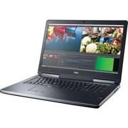 """Dell™ D54XY Precision 7710 17.3"""" Mobile Workstation, LCD, Core i7-6820HQ, 1TB HDD, 8GB RAM, WIN 7 Pro, Black"""
