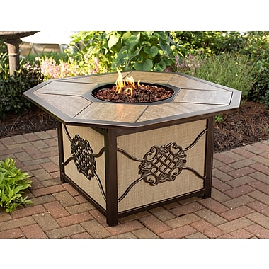 Oakland Living Heritage Aluminum Propane Gas Fire Pit Table