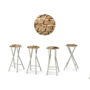Best of Times Rock Wall 30'' Bar Stool w/ Cushion (Set of 4)