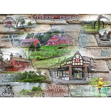 East Urban Home 'Welcome to West hartford' Graphic Art Print on Canvas