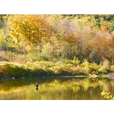 Darby Home Co 'Fly Fishing' Photographic Print on Canvas