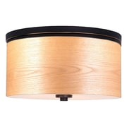 Brayden Studio Juhasz Contemporary 3-Light Drum Metal Flush Mount