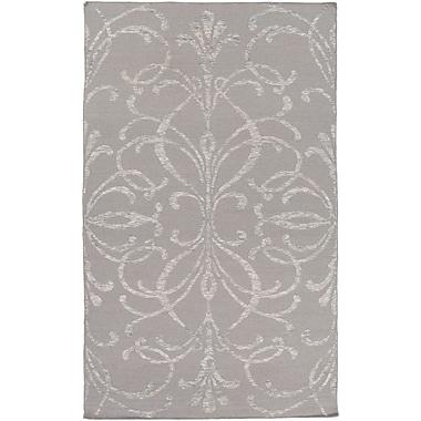 Charlton Home Delavan Hand Woven Rectangle Gray Area Rug; 5' x 7'6''
