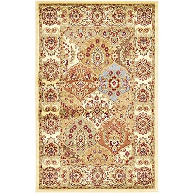 World Menagerie Janiyah Cream Area Rug; Square 8'