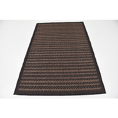 Loon Peak Clayera Brown Outdoor Area Rug; 5' x 8'