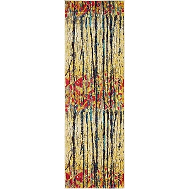 Latitude Run Liz Yellow Area Rug; Runner 2'7'' x 10'