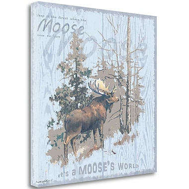 Tangletown Fine Art 'Mooses World Gray' by Anita Phillips Graphic Art on Wrapped Canvas