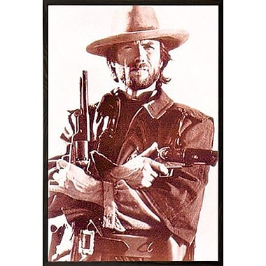 East Urban Home 'Clint Eastwood' Wood Framed Graphic Art Print Poster