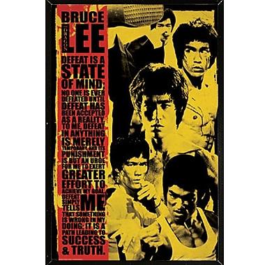East Urban Home 'Bruce Lee - Montage' Framed Graphic Art Print Poster