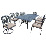 Darby Home Co Bosch 11 Piece Dining Set w/ Cushions; Light Beige