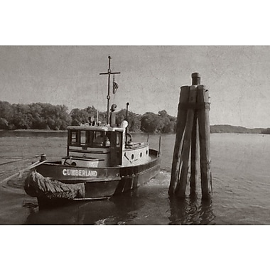 Highland Dunes 'Cumberland Ferry B&W' Photographic Print on Canvas