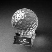 Orren Ellis Marilee Crystal Golf Ball Paper Weight Ornament