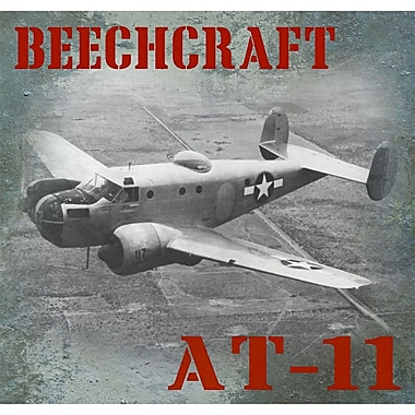 Williston Forge 'Beechcraft AT-11 Vintage Airplane' Graphic Art Print on Canvas